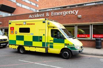 Ambulance parked outside A&E