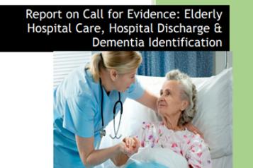 Healthwatch Sunderland report front cover, nurse looking at elderly patient