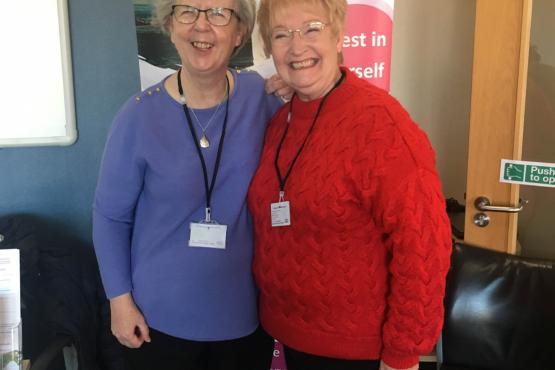Healthwatch volunteers smiling at the camera