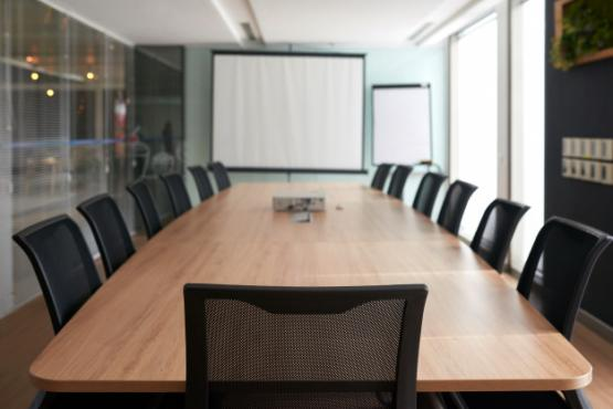Meeting room with table