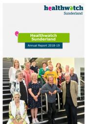 Healthwatch Sunderland report cover - Healthwatch staff, board and volunteers